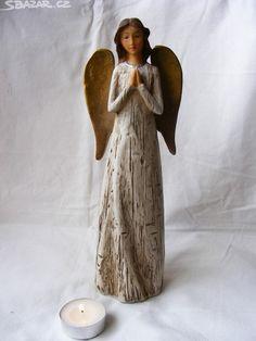 Nová dekorativní soška Anděla (patina). Šířka: 9 - obrázek číslo 1