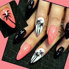 Coral palms by Oli123 from Nail Art Gallery