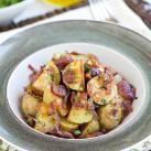 Roasted Potato Salad with Bacon, Caramelized Onions and Vinaigrette