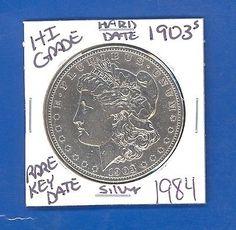 #coins 1903 S MORGAN SILVER DOLLAR COIN #1984 $ HI-GRADE$GENUINE US MINT$RARE KEY DATE please retweet