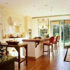 Vintage-Inspired Details - My dream home kitchen will have lovely floors and lighting as depicted here.