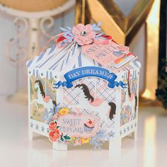 "Carousel Gift Box by Jana Eubank featuring the ""Practically Perfect"" collection by #CartaBellaPaper"