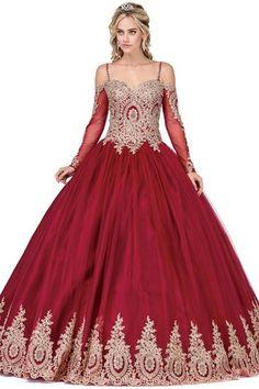 cccc840f93e Long sleeve Quinceanera Dress DQ1282