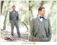 Groom Style, Photography by The Youngrens | three-piece suit with bow tie