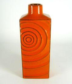Steuler Keramik Vase Cari Zalloni Design 60er / 70er Jahre Vintage Pottery 20cm