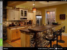 Kitchen cement countertop... Love!