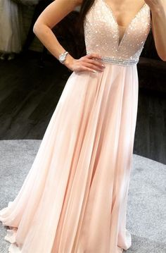 Sparkly prom dresses - Straps pink long prom dress, sparkly v neck chiffon long prom dress party dress CR 526 – Sparkly prom dresses Prom Dresses Long Pink, Winter Formal Dresses, V Neck Prom Dresses, Lace Evening Dresses, Wedding Party Dresses, Homecoming Dresses, Bridesmaid Dresses, Dress Party, Dress Long