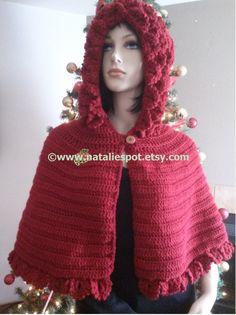 INSTANTÁNEA descargar Berry Picot temporada cabo con capucha - Unic tamaño - Crochet patrón