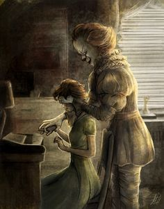This gives me an idea, but not for horror This exact thing, but instead of pennywise it's the couple, and he/she says Trust me Pennywise Film, Pennywise The Dancing Clown, Who Played Pennywise, Best Halloween Movies, Halloween Kostüm, Horror Icons, Horror Art, Horror Movie Characters, Horror Movies