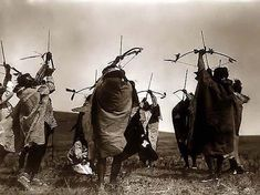 Indians Shooting Bows and Arrows. It was taken in 1908 by Edward Curtis. The image shows the Atsina crazy dance, with Indians shooting arrows toward the sky. Edward Curtis, Native American Photos, Native American Tribes, Native American History, Native Americans, Old Pictures, Old Photos, Indiana, Native Indian