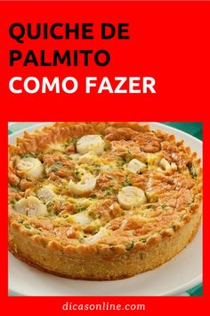 Quiche de palmito Easy Crustless Quiche Recipe, Mini Quiche Recipes, Healthy Quiche, Vegetarian Quiche, Quiche Lorraine Recipe French, Lorraine Recipes, Tortas Low Carb, Easy Cooking, Food And Drink