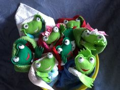 "Cuddly 8"" Froggy in a Blanket Baby Animal Swaddle Baby Doll Pattern with permanently attached blanket to make both boy and girl frogs. Blankets are made with a washcloth in this pattern to make them even quicker and easier. Combine with your favorite fabrics or fabric scraps and colors in any way you choose and create YOUR favorite frog in a blanket! This is a great beginner sewing pattern for cloth animal dolls! Hop to it and start making your Froggy Swaddle Baby Dolls today. :o)   Full siz..."