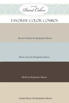 French Houses Color Combination by Benjamin Moore; Silver Gray is great for small spaces i.e. laundry room/powder room.