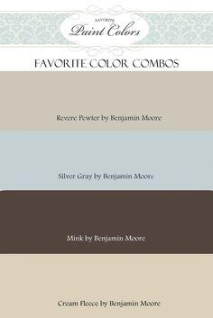 Palette de couleurs, idées