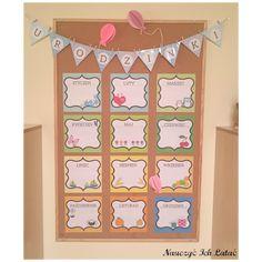 Nauczyć Ich Latać: Kalendarz urodzin Teachers Corner, Creative Art, Diy And Crafts, Toddler Bed, Preschool, Holiday Decor, Home Decor, Minka, Classroom