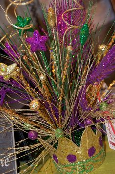 Custom Crown Mardi Gras Centerpiece