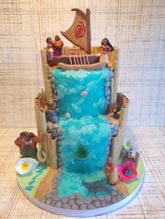 Moana theme cake buttercream and whipped cream cakes pinterest moana cake and moana party Gateau anniversaire garcon