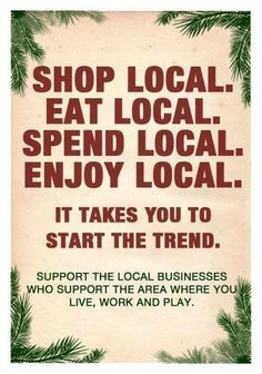 Shop Local. Eat Local. #food #local