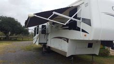 "2008 Used Carriage Cameo F37RE3 Fifth Wheel in Texas TX.Recreational Vehicle, rv, 2008 Carriage Cameo F37RE3, 2008 Carriage Cameo 37RE features 3 slides and a great floor plan! The Carriage was a bit ahead of its time with frameless glass windows, recessed lighting, led rear tail lights, Corian counters, and more!! Super high quality and this one is sure to please with it's new residential StainMaster carpeting & new wood ""look"" flooring in main living area and bathroom, fireplace, and more…"