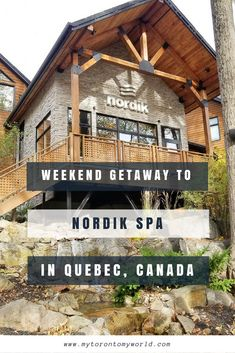 Nordik Spa is a beautiful outdoor spa that is located at the entrance of Gatineau Park. It's only 15 minutes from downtown Ottawa and is the largest spa in North America! With a combination of spa services and nature it makes for the perfect weekend getaway.