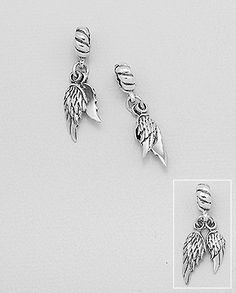 sterling silver Pandora compatible angel wings bead Wholesale Beads, Angel Wings, Pandora, Jewels, Sterling Silver, Accessories, Jewerly, Gemstones, Fine Jewelry