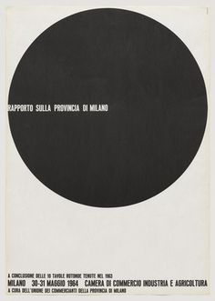 """Rapporto Sulla Provincia di MilanoPosterDesigner: AG FronzoniYear: 1964Printing method: LithographCollection: Museum of Modern ArtDimensions:Height: 970 mm / 38' 3/16""""Width: 680 mm / 26' 3/4"""""""