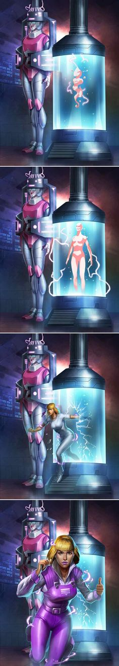 I just saw this episode again the other day! Beautiful human Arcee! <3