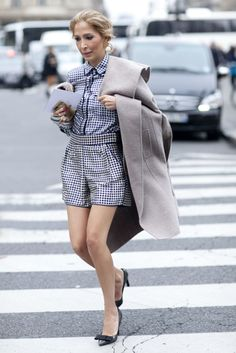 Pajama dressing at its most sophisticated. #pfw #ss14 #streetstyle
