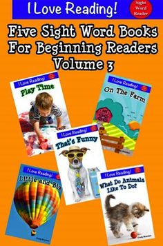 5 FREE Kids e-Books: Sight Word Books For Beginning Readers