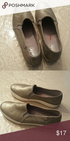 Shoes Beautiful keds sneakers, color looks gold, in great condition,  with a little wedge Keds Shoes Sneakers