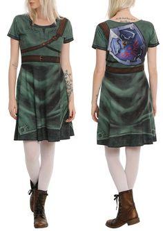 zelda link cosplay dress