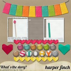 Scrapbooking TammyTags -- TT - Designer - Harper Finch, TT - Item - Kit or Collection, TT - Style - Sampler or Mini Kit