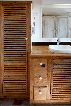 Gzilépoc création en bois recyclé: Salle d'eau