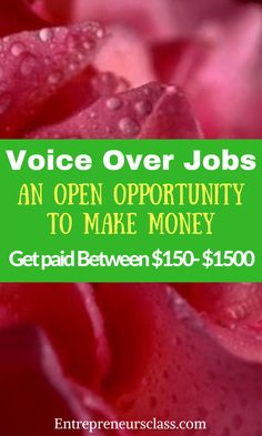 Voice Over Jobs -The VOGenesis Cash Review.How to make $150 to $1500 with voice over jobs.