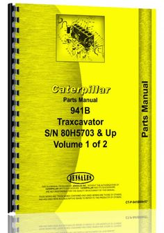 caterpillar 931 traxcavator parts manual products caterpillar 941b traxcavator parts manual