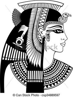 Detail of cleopatra head stock vector. Image of hieroglyphics - 67652395 Egyptian Symbols, Egyptian Art, Egyptian Jewelry, Egyptian Costume, Ancient Egypt Art, Ancient Aliens, Ancient Artifacts, Ancient Greece, Ancient History