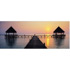 Trademark Fine Art Sunset Hideaway Canvas Art by David Evans, Size: 6 x 19, Multicolor
