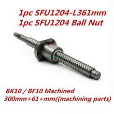 <b>SFU1204 rolled ball</b> screw C7 with 1204 single <b>ball</b> nut for CNC ...