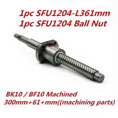 <b>SFU1204 set:SFU1204 rolled ball</b> screw C7 with end machined + ...
