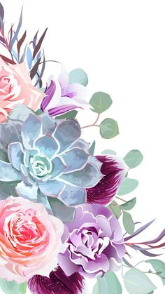 Trendy ideas for wall paper phone art illustration Cute Wallpaper Backgrounds, Flower Wallpaper, Pattern Wallpaper, Iphone Wallpaper, Floral Wallpaper Phone, Cool Backgrounds For Iphone, Succulents Wallpaper, Cute Wallpapers For Ipad, Cute Wallpaper For Phone