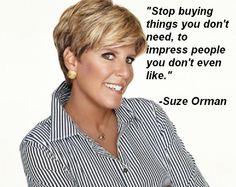 Suze Orman. saving-money-tips