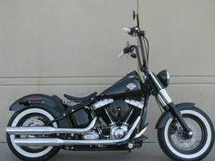 Custom Harley Davidson Softail with Ape Hangers #HDNaughtyList