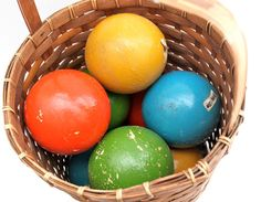 vintage wood Franklin Sports Industries bocce ball by RedTuTuRetro, $65.00