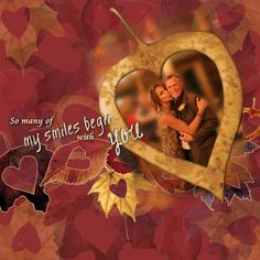 My Smiles Begin With You features Janet Scott's Thankful Heart mini kit at Pixel Scrapper.