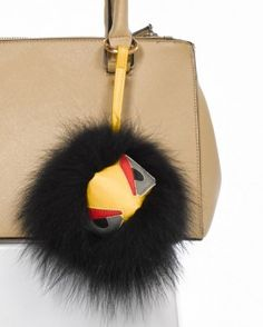 e0c502f2d750 Black Monster Fur Bag Charm Fur Bag