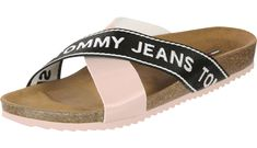 8f5ff4bf199096 Tommy Jeans Flat Cork W Sandalen pink im WeAre Shop