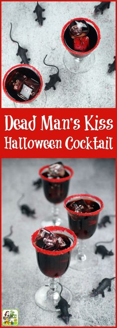 Searching for spooky Halloween cocktail ideas? Try a Dead Man's Kiss Cocktail made with black vodka! Includes a homemade black vodka recipe for making scary Halloween drinks. Click to get this easy Halloween drinks recipe.