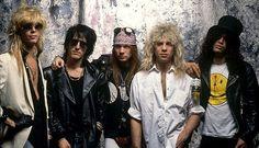 Guns N Roses Duff McKagan Izzy Stradlin Axl Rose Steven Adler Slash