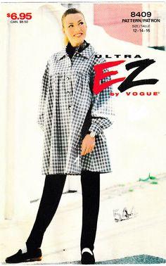 Ultra EZ by Vogue 8409 ©1987 Misses Shirt + Pants, Size 12-14-16, MINT, FF #Vogue #Vogue Vogue Sewing Patterns, Pants, Size 12, Leggings, Ebay, Shirts, Trouser Pants, Women's Pants, Women Pants