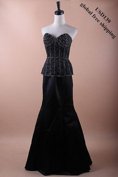 Black Beading Two-piece Dress  Sample,only one left.  Selling Price: US$139 (global free shipping)  Product No.: DBSS-00040  Top (Bust:90cm;Waist:74cm;Top Length:40cm) Bottom (Waist:70cm,Hip:98cm;Bottom Length:110cm)  Email Product No. to: service@dazzlebride.com.We will provide you a special link to buy it.   WWW.DAZZLEBRIDE.COM